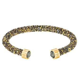 Swarovski Yellow Gold Plated Crystal Dust Bangle - Product number 8085501
