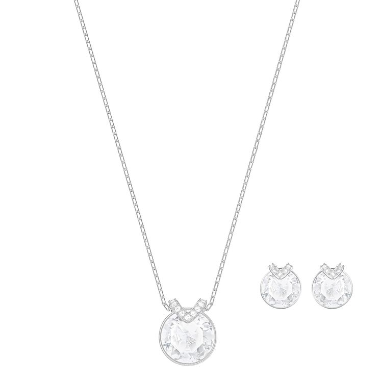 Swarovski Bella Rhodium Plated Earring and Pendant Set - Product number 8085951