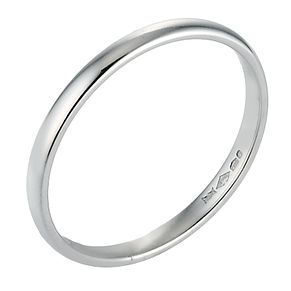Platinum 2mm Extra Heavy Court Ring - Product number 8087024