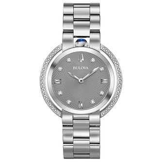 Bulova Ladies' Rubaiyat Steel Diamond Set Bracelet Watch - Product number 8087776