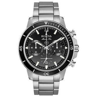 Bulova Men's Marine Star Stainless Steel Chronograph Watch - Product number 8087814