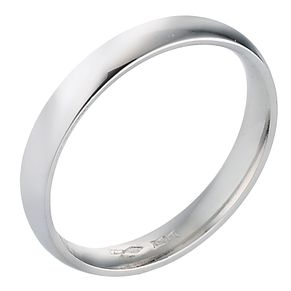 Platinum 3mm Extra Heavy Court Ring - Product number 8088373