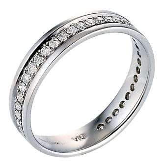 9ct White Gold Third Carat Diamonds Eternity Ring - Product number 8088861