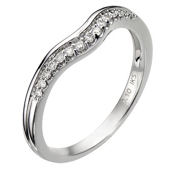 18ct White Gold U Shaped Diamond Ring - Product number 8089957