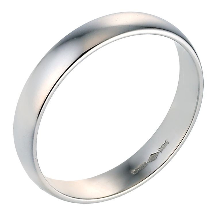 Platinum 4mm Extra Heavy Court Ring - Product number 8092613