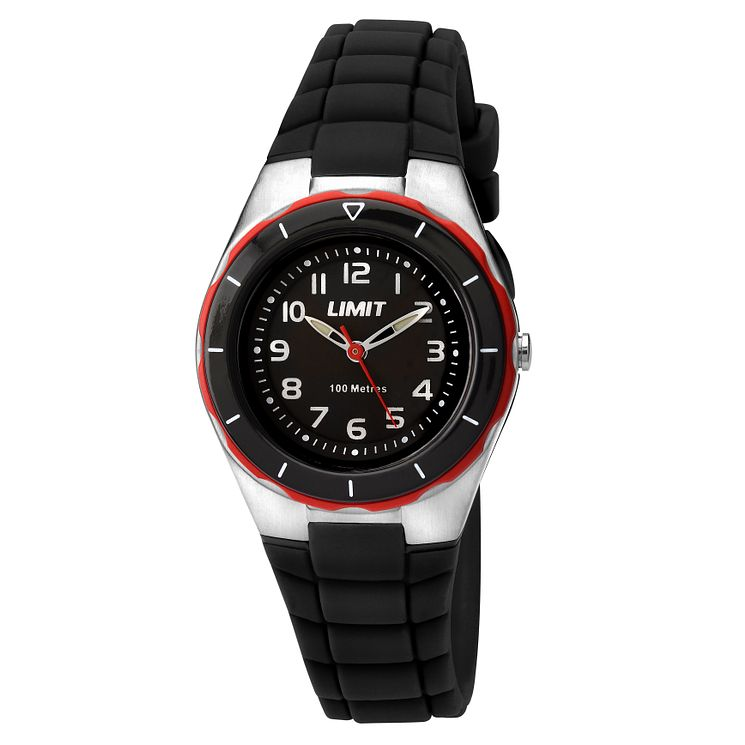 Limit Children's Black Strap Watch - Product number 8093342