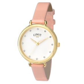 Limit Ladies' Pink Leather Strap Watch - Product number 8093377