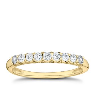 9ct Yellow Gold 1/3ct Diamond Eternity Ring - Product number 8102058