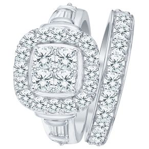 9ct White Gold 2ct Diamond Perfect Fit Bridal Set - Product number 8102821