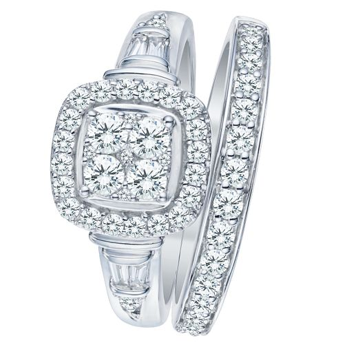 9ct White Gold 4/5ct Diamond Perfect Fit Bridal Set - Product number 8102953