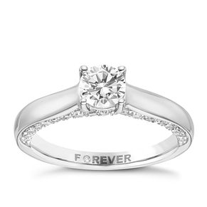 Platinum 1ct Forever Diamond Ring - Product number 8104069
