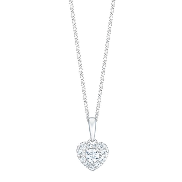 9ct White Gold 1/4ct Forever Diamond Pendant - Product number 8104212
