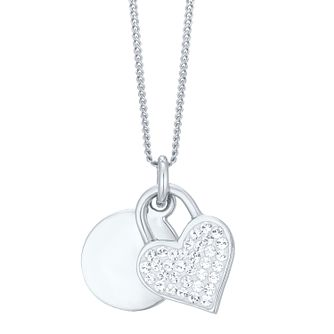 Evoke Silver Crystal Heart Pendant - Product number 8108447