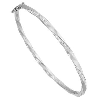 Evoke Silver Crystal Bangle - Product number 8108536
