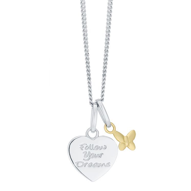 Children's Sterling Silver & 9ct Gold Pendant - Product number 8108587