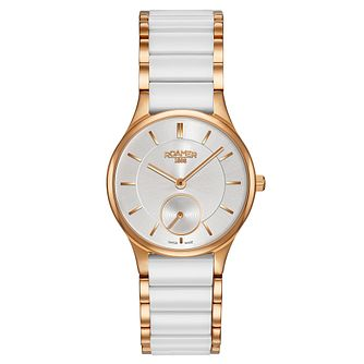Roamer Ceraline Saphira Ladies' White Ceramic Bracelet Watch - Product number 8108811