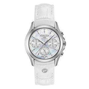 Roamer Searock Ladies' White Leather Strap Chronograph Watch - Product number 8108846