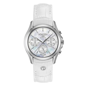 Roamer Ladies' White Leather Strap Chronograph Watch - Product number 8108846