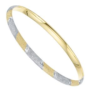 Together Silver & 9ct Bonded Gold Two Colour Glitter Bangle - Product number 8108978