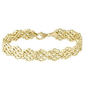 Together Silver & 9ct Bonded Gold Linked Flower Bracelet - Product number 8108986