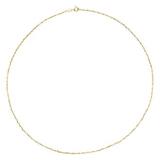9ct Yellow Gold Sparkle Necklace - Product number 8109087