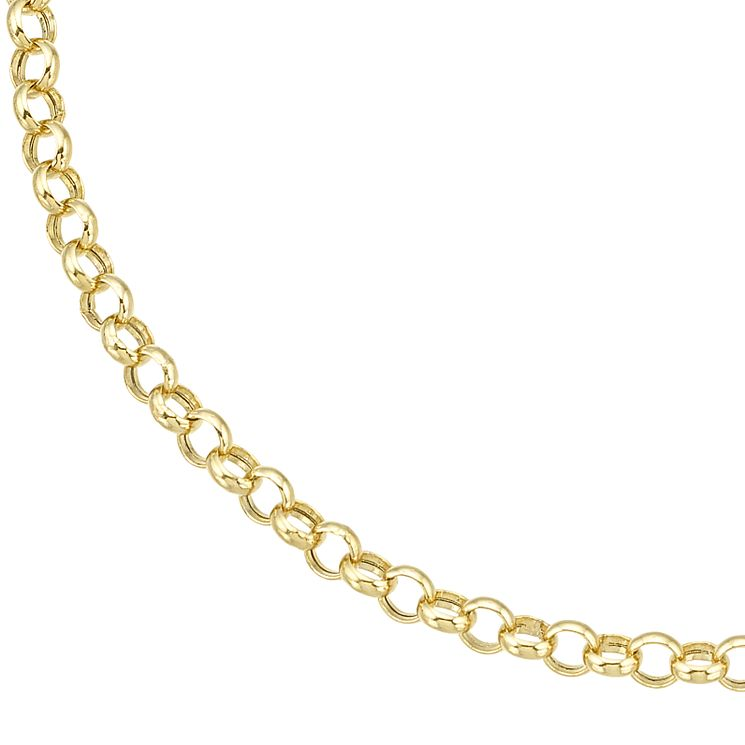 9ct Yellow Gold Small Belcher Chain Bracelet - Product number 8109176