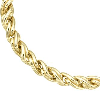 9ct Yellow Gold Twisted Link Chain Bracelet - Product number 8109184