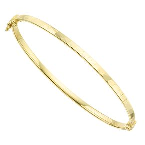 9ct Yellow Gold Patterned Hollow Bangle - Product number 8109249