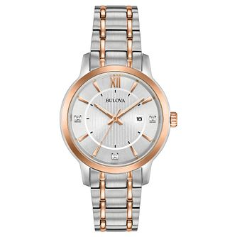 Bulova Ladies' Two Colour Stainless Steel Bracelet Watch - Product number 8109281