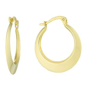 Together Silver & 9ct Bonded Gold Round Creole Earrings - Product number 8110581