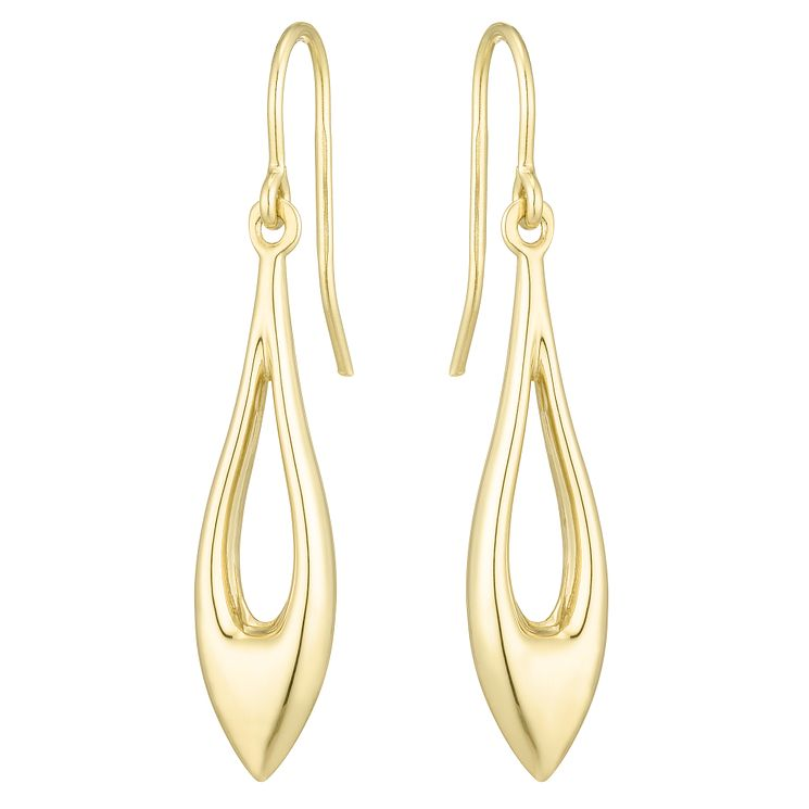Together Silver & 9ct Bonded Gold Open Drop Earrings - Product number 8110603