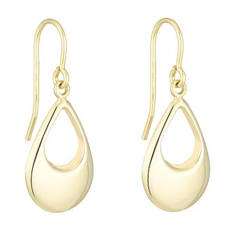 Together Silver & 9ct Bonded Gold Open Teardrop Earrings - Product number 8110638