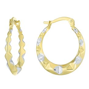 Together Silver & 9ct Bonded Gold Two Colour Creole Earrings - Product number 8110662