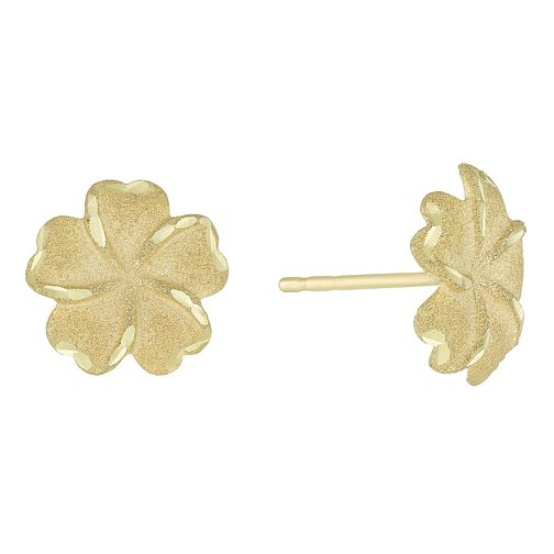 Together Silver & 9ct Bonded Gold Flower Stud Earrings - Product number 8110719