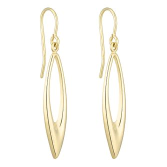 Together Silver & 9ct Bonded Gold Long Drop Earrings - Product number 8110727