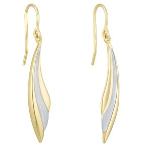 Together Silver & 9ct Bonded Gold Two Colour Drop Earrings - Product number 8110794
