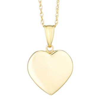 Heart necklaces hmuel together silver 9ct bonded gold solid heart pendant product number 8110816 aloadofball Images