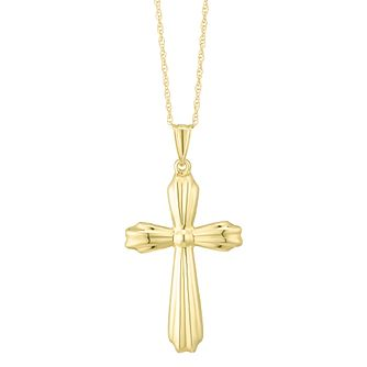 Together Silver & 9ct Bonded Gold Cross Pendant - Product number 8110832