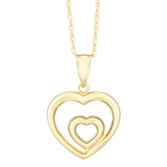 Together Silver & 9ct Bonded Gold Double Heart Pendant - Product number 8110867