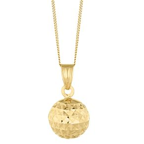 9ct Yellow Gold Diamond Cut Ball Pendant - Product number 8111146