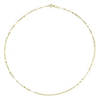 9ct Yellow Gold Sparkle Disc Chain Necklace - Product number 8111189