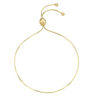 9ct Yellow Gold Adjustable Bracelet - Product number 8111227