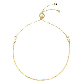 9ct Yellow Gold Adjustable Sparkle Bracelet - Product number 8111235