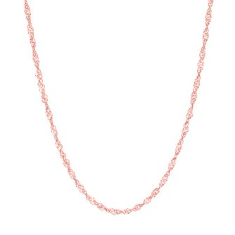 "9ct Rose Gold 18"" Singapore Chain Necklace - Product number 8111359"