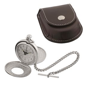 Jean Pierre pocket alarm watch with leatherette case - Product number 8113548