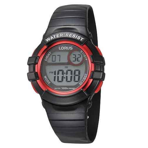 Lorus Children's Black Strap Digital Watch - Product number 8114633