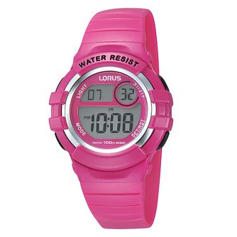 Lorus Children's Pink Strap Digital Watch - Product number 8114676