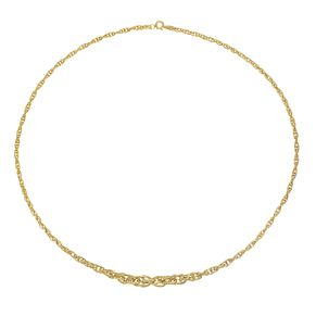 9ct Yellow Gold Spiga Chain Necklace - Product number 8115257