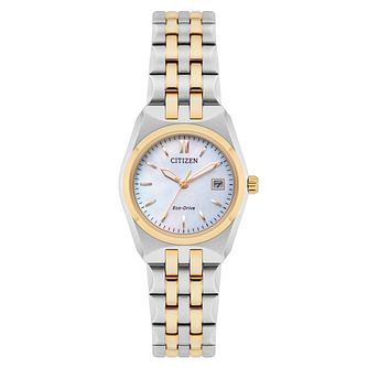 Citizen Corso Ladies' Two Colour Mother of Pearl Watch - Product number 8117330