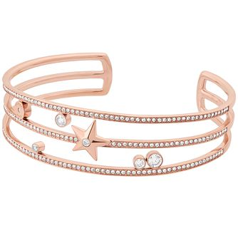 Michael Kors Celestial Rose Gold Tone Charm Open Bangle - Product number 8117373